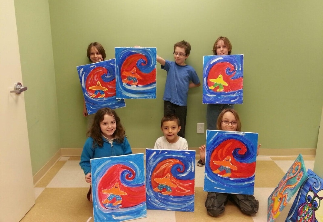 Children's Painting Party | Sip and Paint Carolina Beach