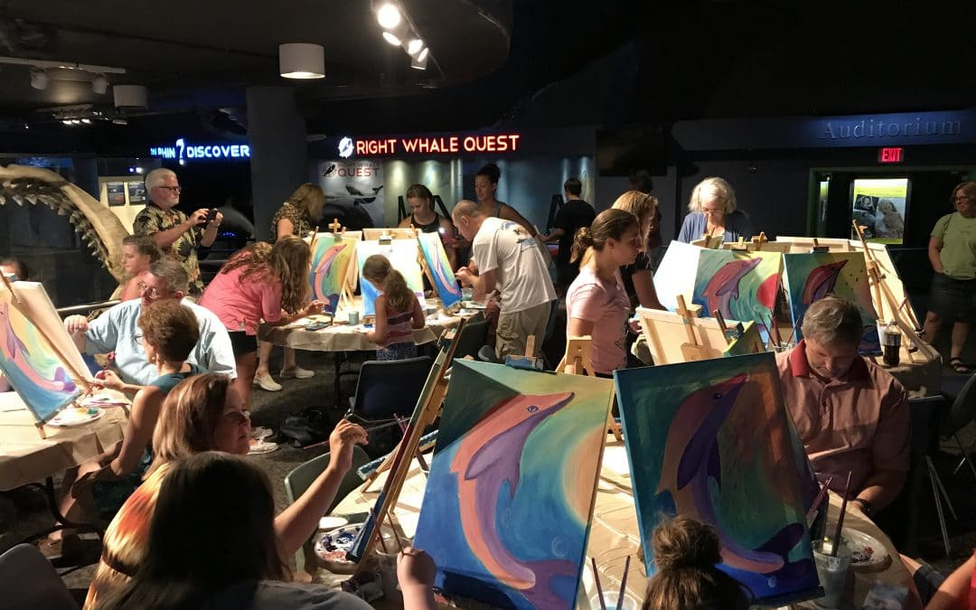 It's our 2017 Fort Fisher Aquarium Summer Series Family Paint Classes!