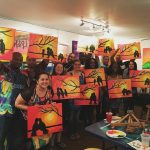 Paint Night at Club Golf Indoor in the New Riverlights Community!