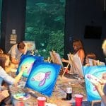 Paint Night at the Fort Fisher Aquarium