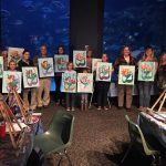 Paint Night with the Mermaids at the Fort Fisher Aquarium
