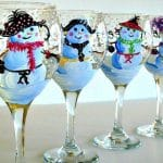 Wine Glass Painting at Castaways Holden Beach